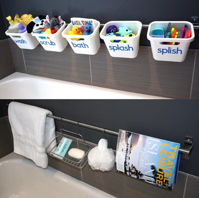 Bath Toy Storage That Transforms To Guest Luxury Bathroom Ikea Hackers