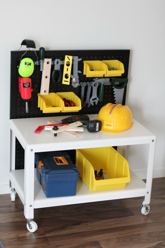 ikea hack work bench