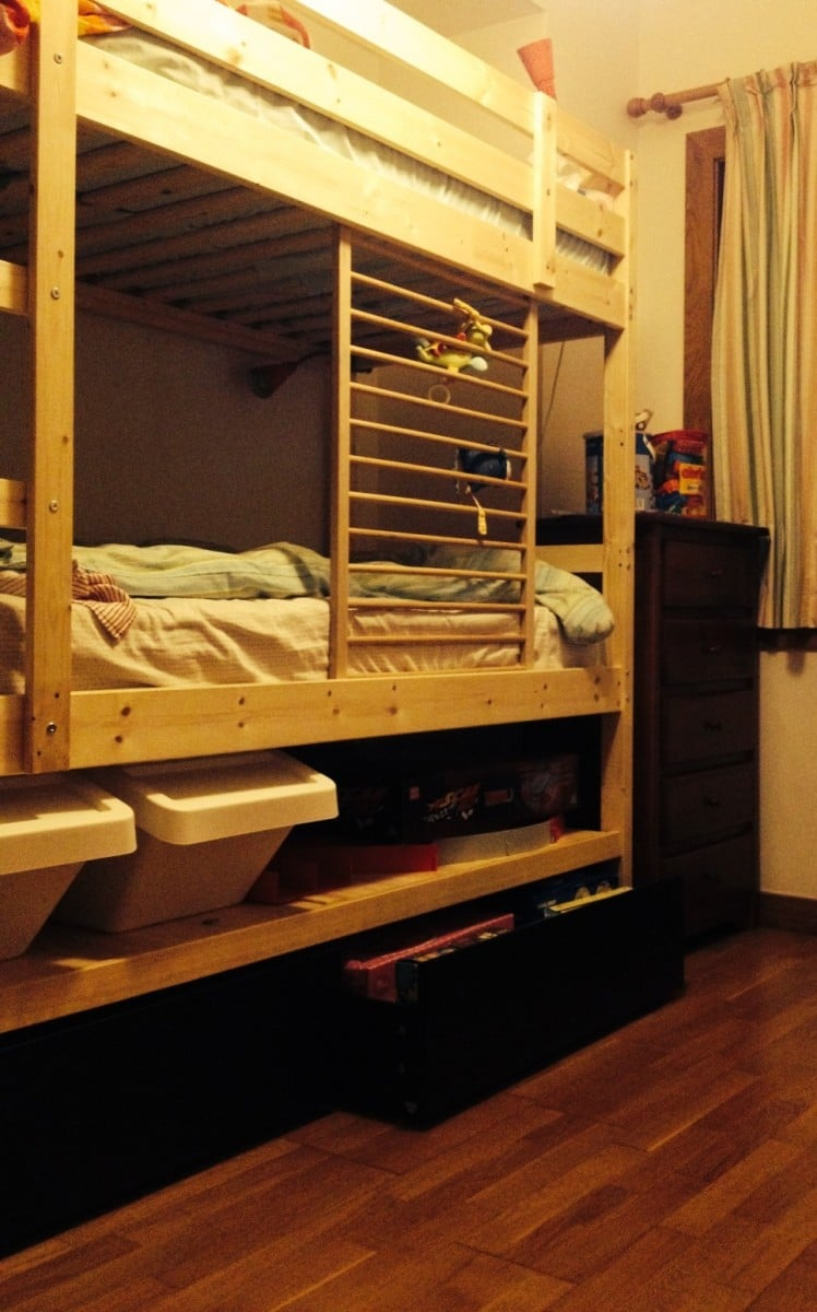 Mydal Bunk Bed Hack Added Height Shelf And Malm Drawers