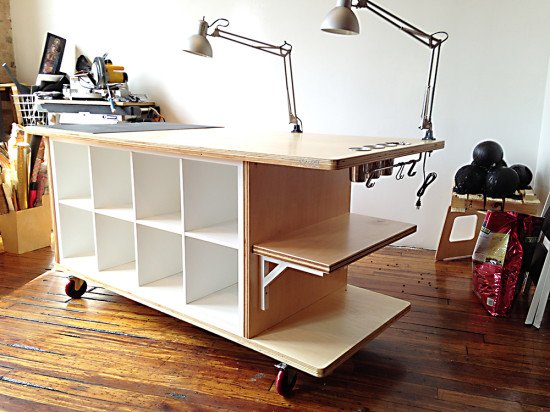 kallax workstation ikea hackers ikea hackers. Black Bedroom Furniture Sets. Home Design Ideas