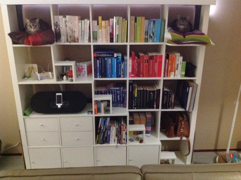 Catpedit The Expedit Hacked For Cats And Books Alike Ikea Hackers