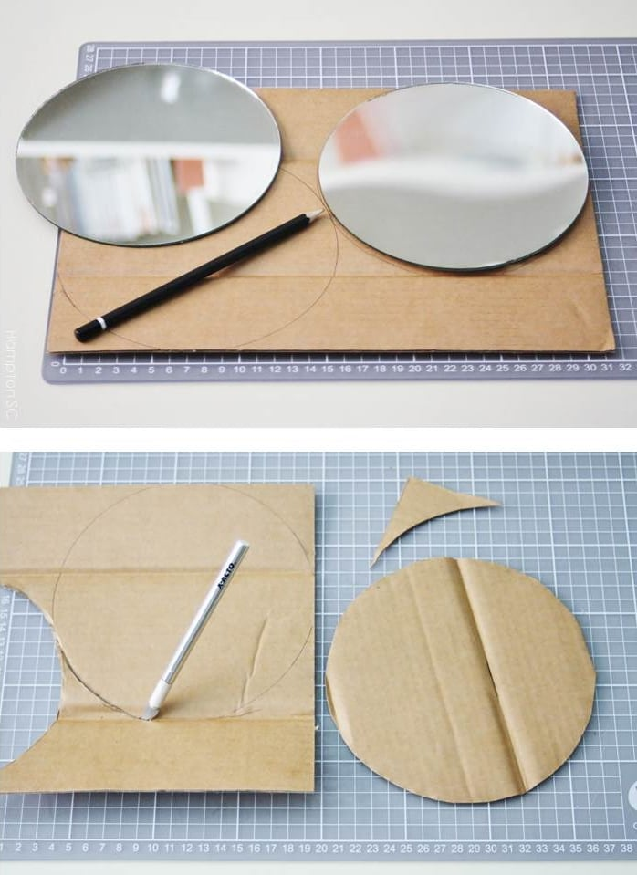 how to cut cardboard round