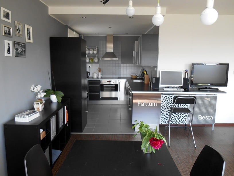 We Discovered That IKEA Doesnt Sell Faktum In This Black Wood Design Any More So Used Stainless Steel Decor For Components Didnt Have