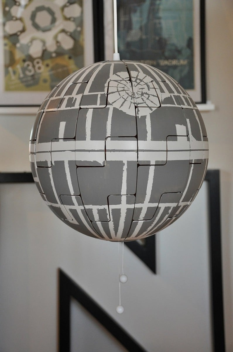 ikea ps lamp goes exploding death star. Black Bedroom Furniture Sets. Home Design Ideas