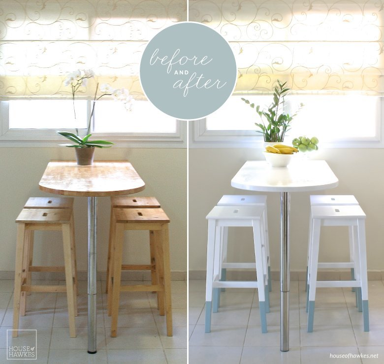 Mini kitchen makeover: paint-dipped IKEA chairs - IKEA Hackers - IKEA Hackers