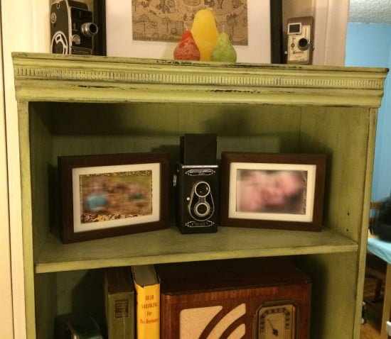 Antique'd Ikea Billy Bookcase