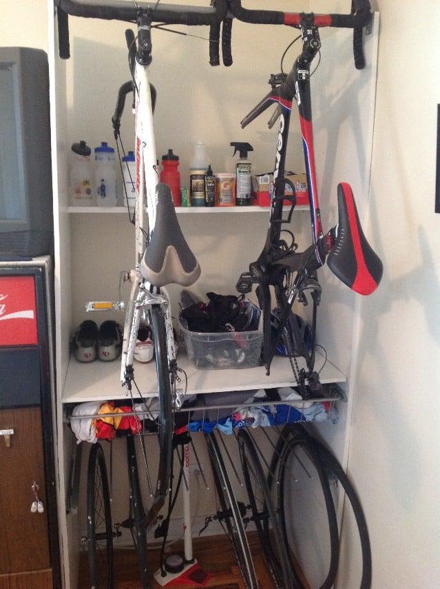 Pax Wardrobe Bike Closet Ikea Hackers