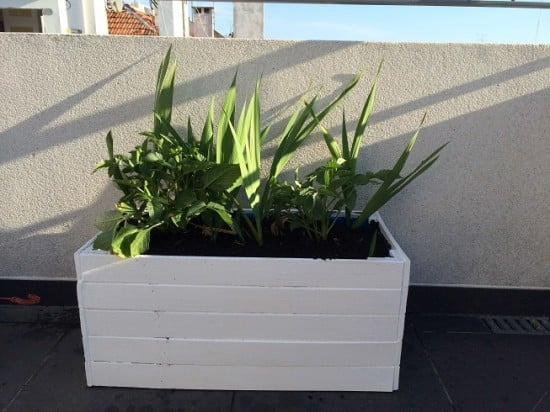 White Planter From Sultan Bed Frame Ikea Hackers Ikea