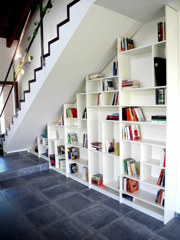 Ikea Hack Bookcase: Under Stairs Billy Bookshelves
