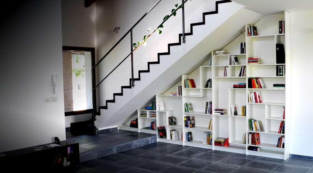 sgantina under stairs billy bookshelves ikea hackers ikea hackers. Black Bedroom Furniture Sets. Home Design Ideas