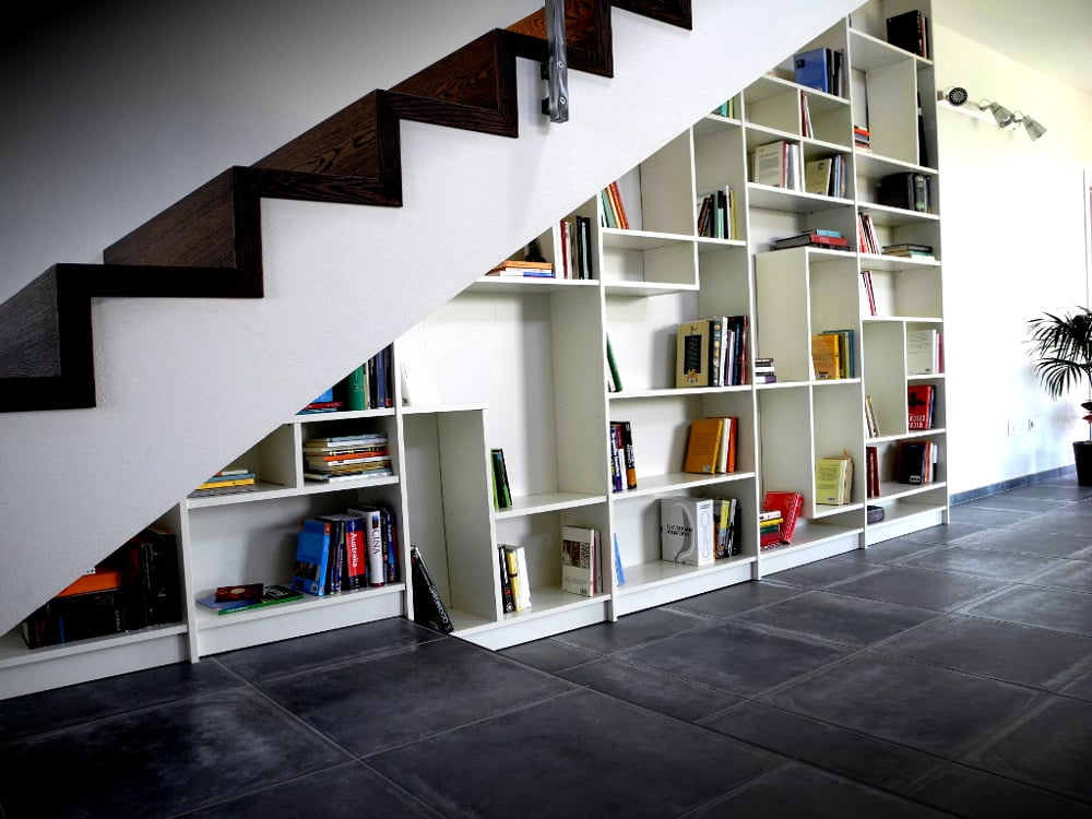 Sgantina under stairs billy bookshelves ikea hackers - Creative uses of floating shelves ikea for stylish storage units ...