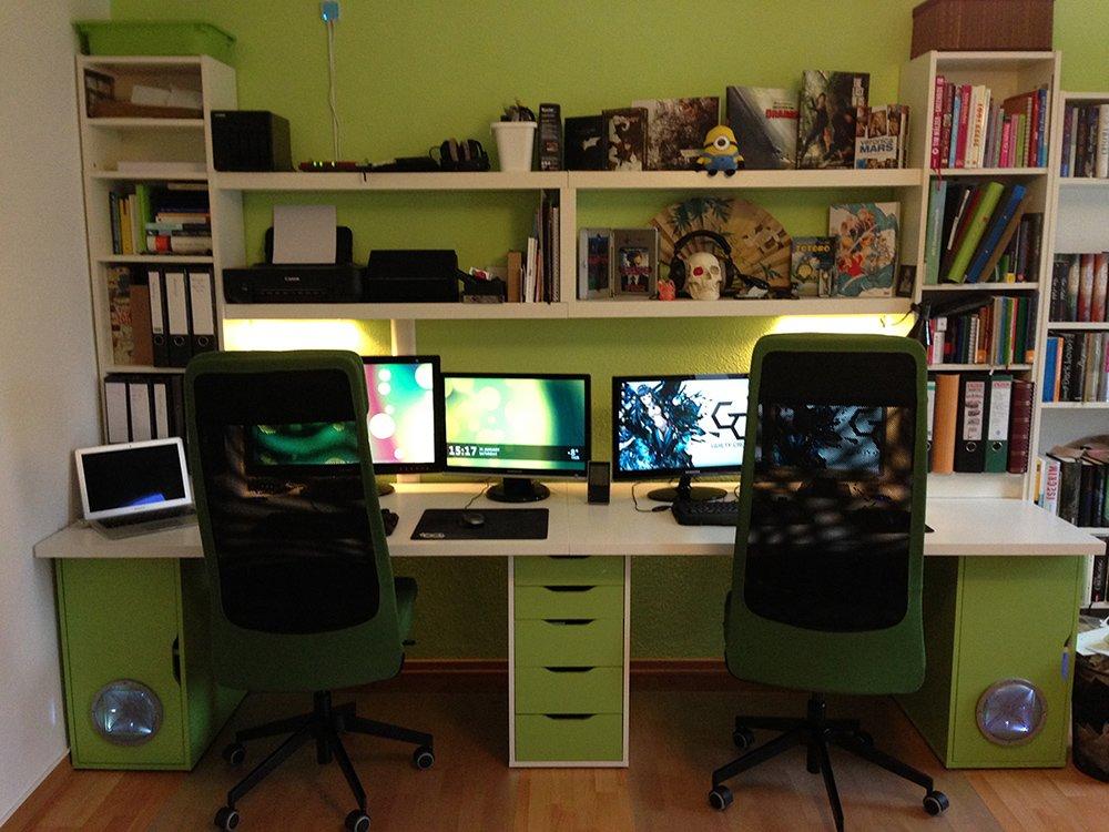 Ikea Hack ikea doubledesk workspace ikea hackers ikea hackers
