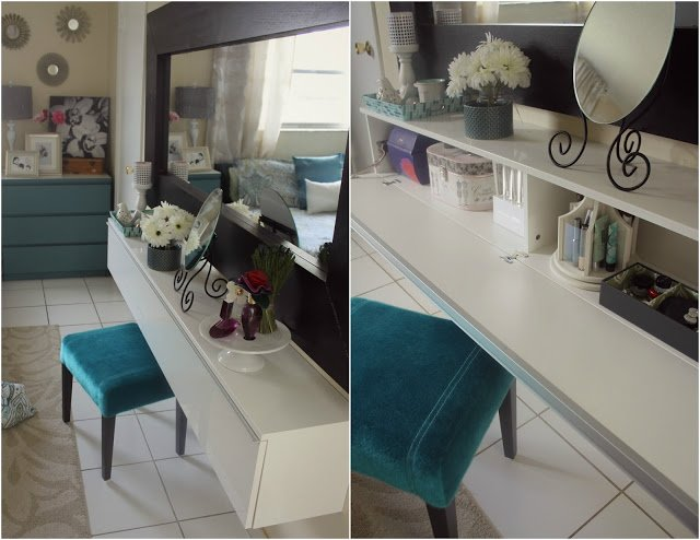 Used Washer And Dryer Stackable BESTÅ BURS wall shelf turned into a makeup vanity - IKEA ...