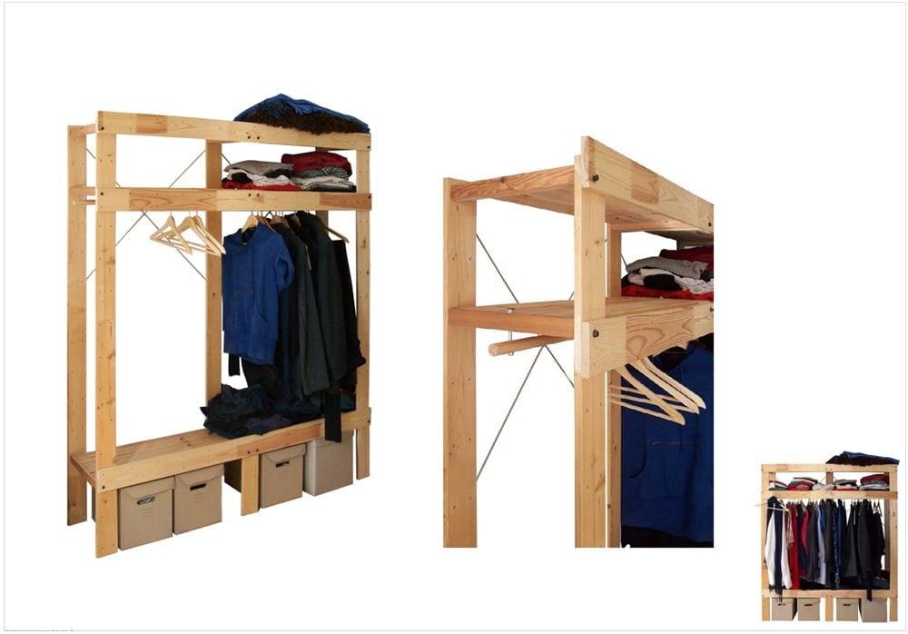Ivartar The Transformation Of A Shelf Into A Wardrobe