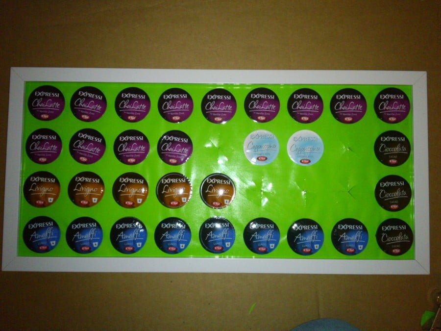 wall mounted K-cup holder or other coffee capsules
