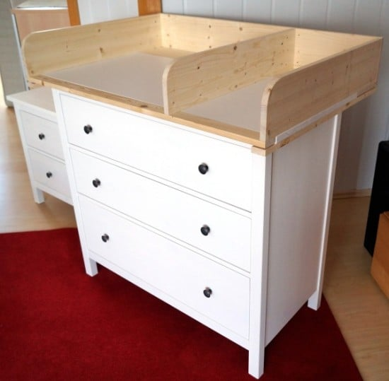 Hemnes baby changing table ikea hackers ikea hackers - Transformer meuble ikea ...