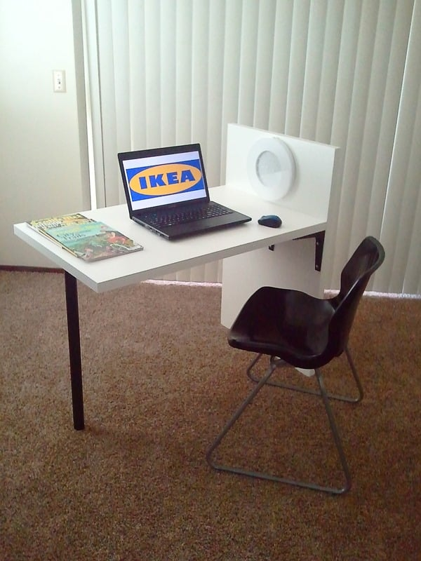 uni leg desk ikea hackers. Black Bedroom Furniture Sets. Home Design Ideas