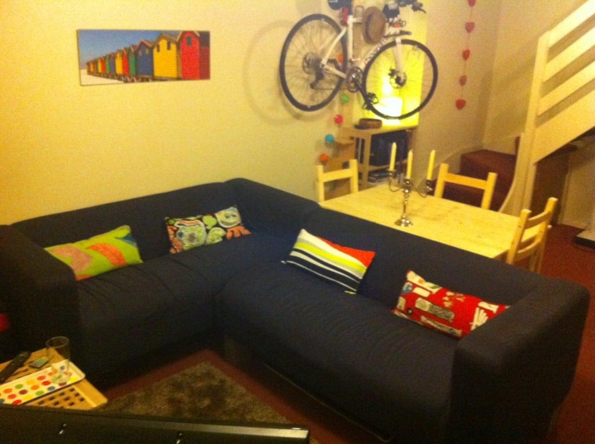Liegesofa Ikea klippan corner sofa conversion and longer oak fence post legs ikea