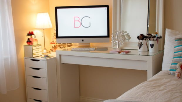 Room-Tour-Office-Malm-Dressing-Table-Makeup-Collection-3