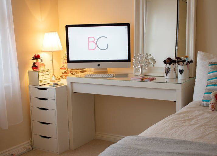 malm dressing table ikea hack. Black Bedroom Furniture Sets. Home Design Ideas