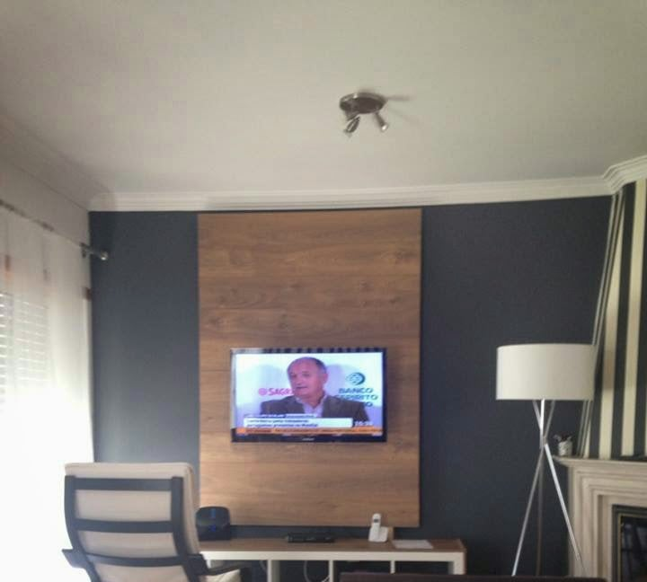 Wood Panel Wall Behind Tv: Expedit Panel TV