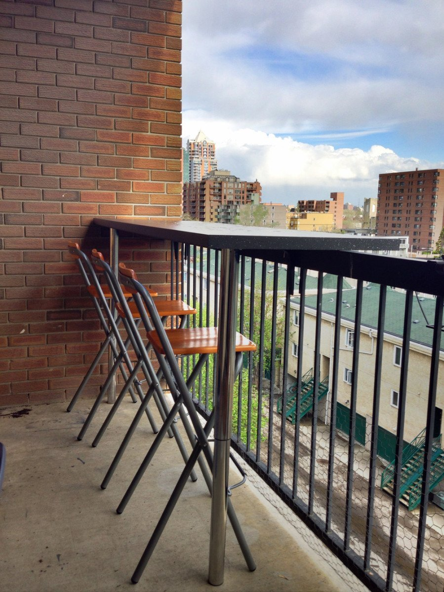 Balcony bar ikea hackers ikea hackers for Diy balcony bar