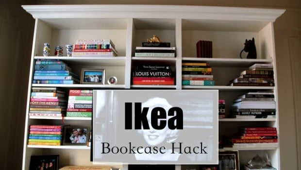 ikea book case hack
