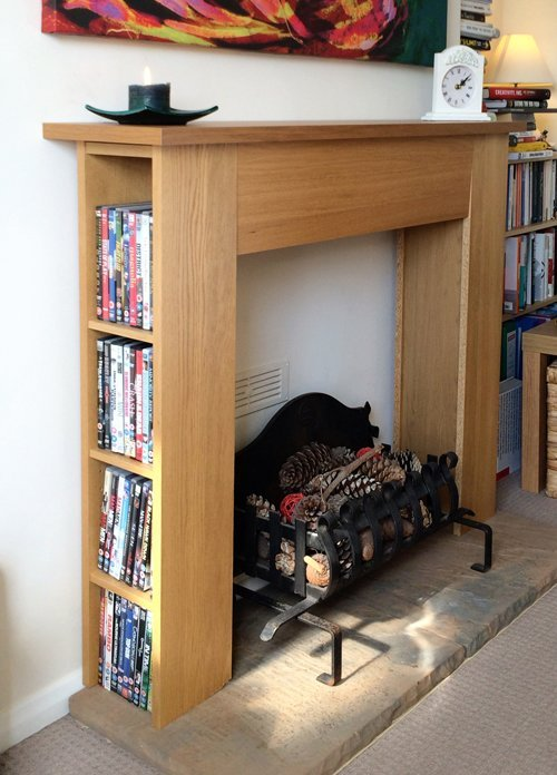 Mantlepiece With Dvd Storage Ikea Hackers