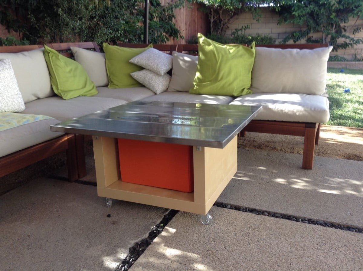 lack hack stainless steel outdoor table ikea hackers ikea hackers. Black Bedroom Furniture Sets. Home Design Ideas