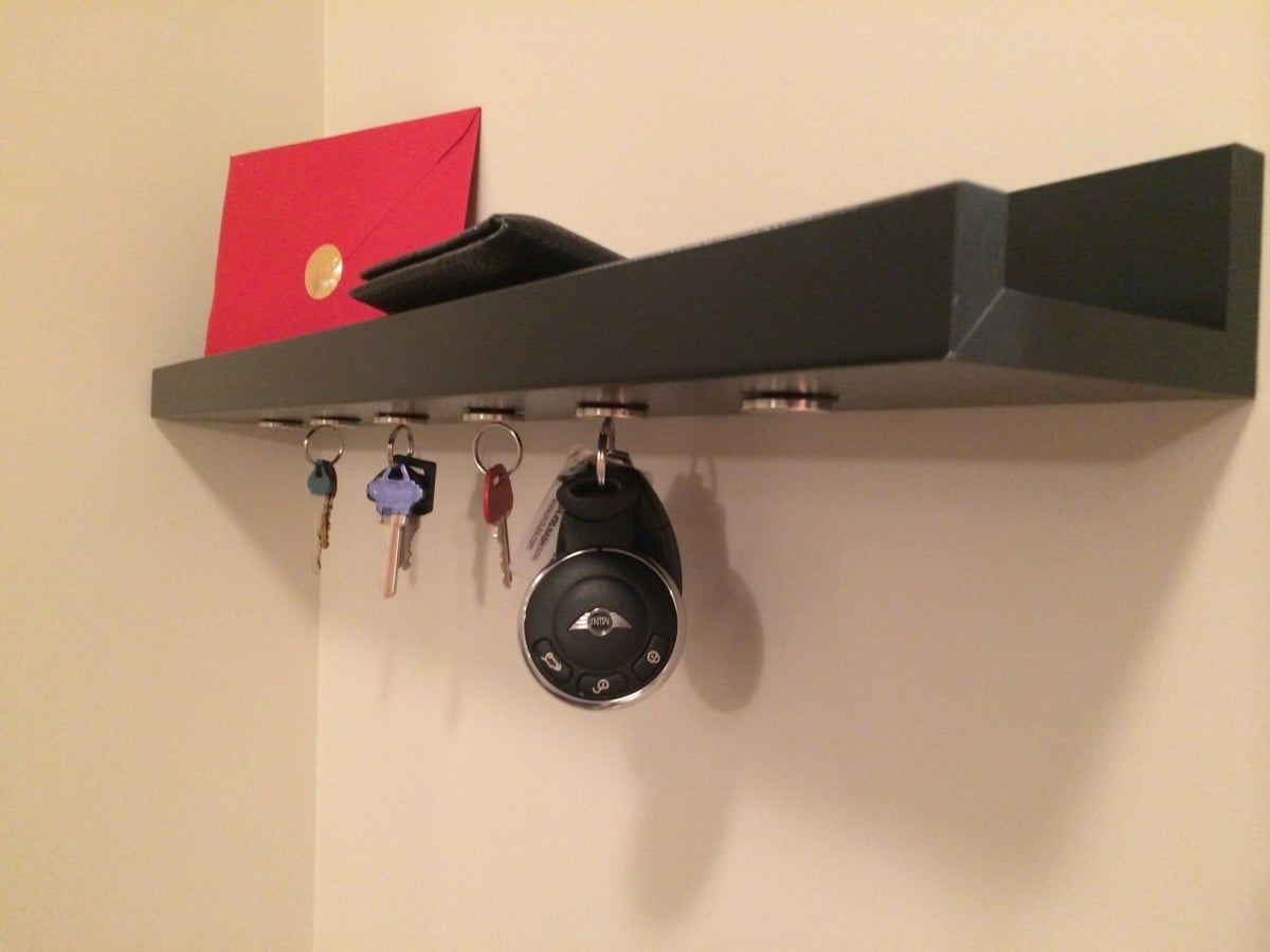 Ikea ribba magnetic key holder color coded keys ikea hackers ikea hackers - Key racks for wall ...