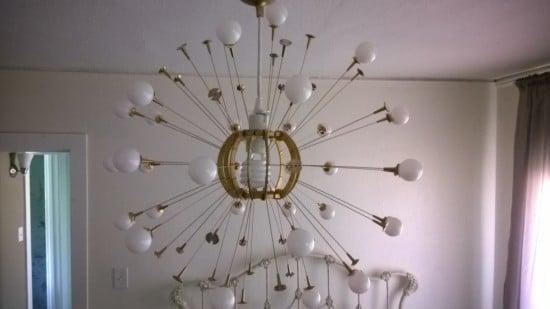 DIY Sputnik chandelier IKEA MASKROS hack