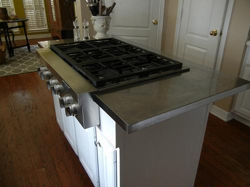 Hack an affordable stainless steel kitchen island for Stainless steel countertops cost per sq ft