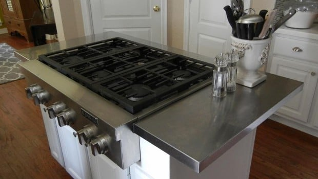 Hack An Affordable Stainless Steel Kitchen Island