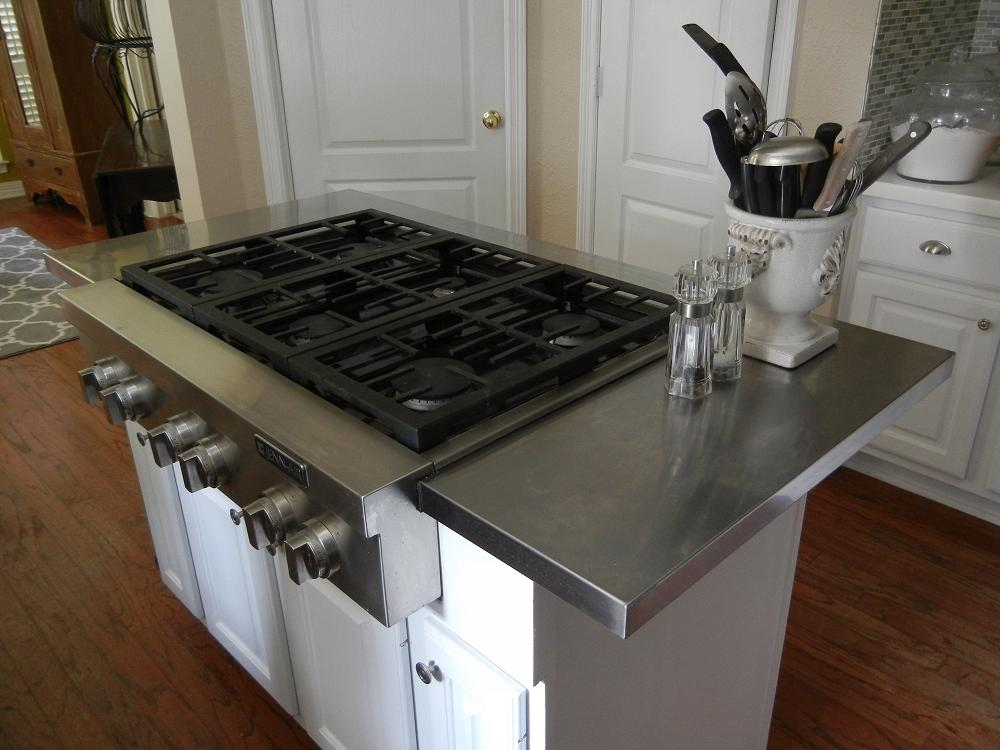 Hack an affordable Stainless Steel Kitchen Island Countertop - IKEA ...