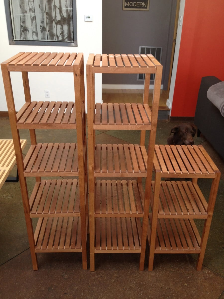 staggered molger shelves ikea hackers ikea hackers. Black Bedroom Furniture Sets. Home Design Ideas