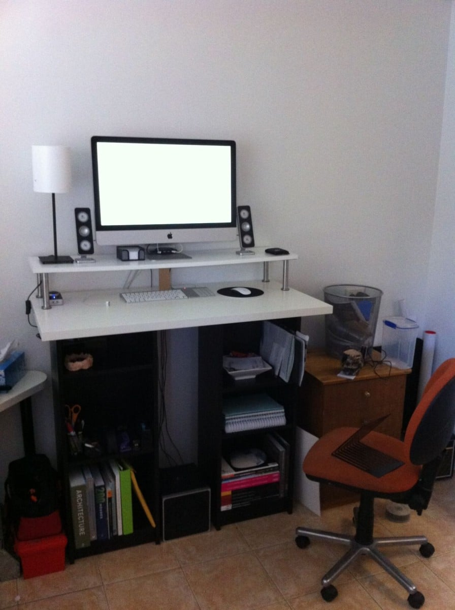 Seated Corner OR Standing Desk with Billy and Linmon IKEA