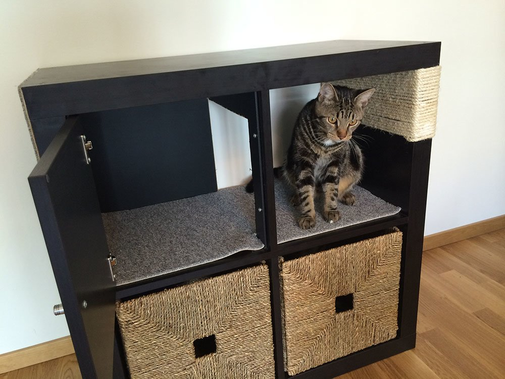 kallax cat scratching furniture ikea hackers ikea hackers. Black Bedroom Furniture Sets. Home Design Ideas