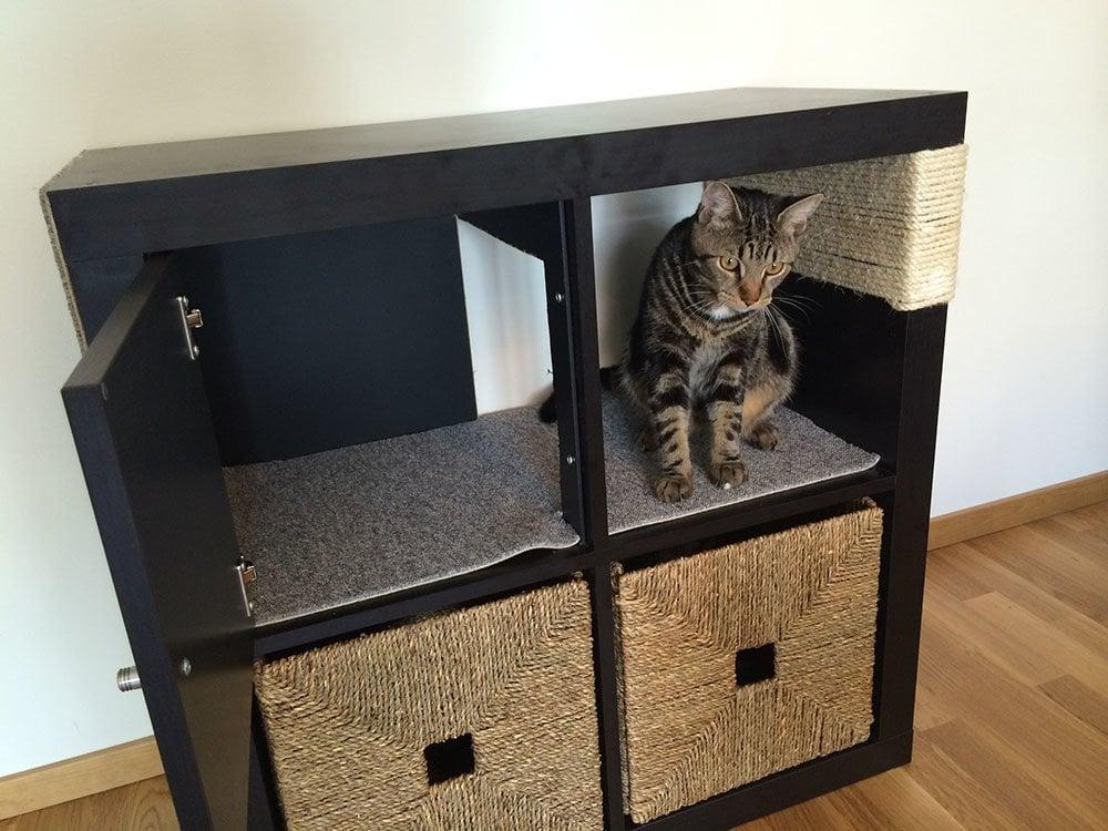 kallax cat scratching furniture ikea hackers ikea hackers. Black Bedroom Furniture Sets. Home Design Ideas