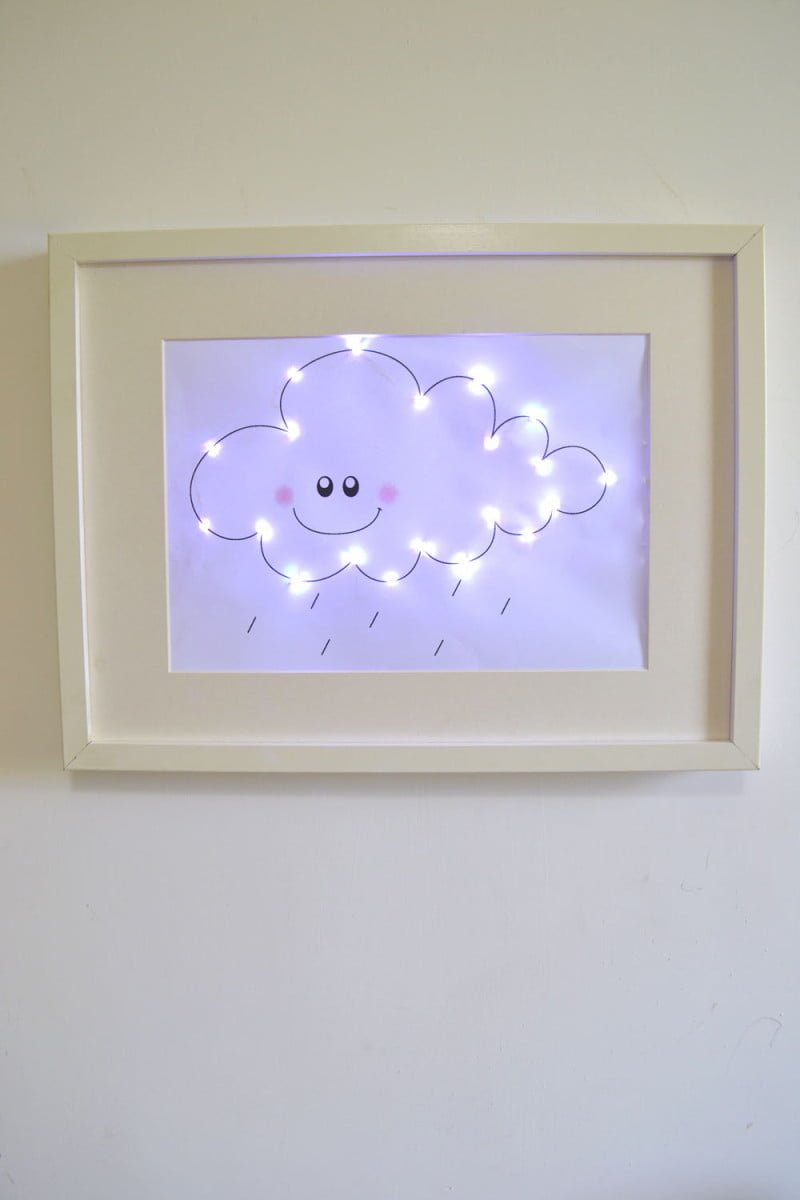 Ribba cloud night light ikea hackers ikea hackers for Ikea ribba weiay