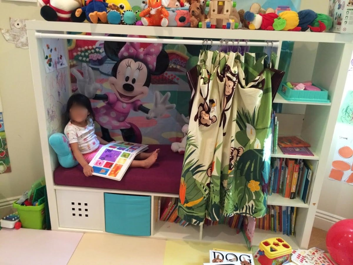 Children 39 s reading nook from tv furniture ikea hackers for Ikea children toys