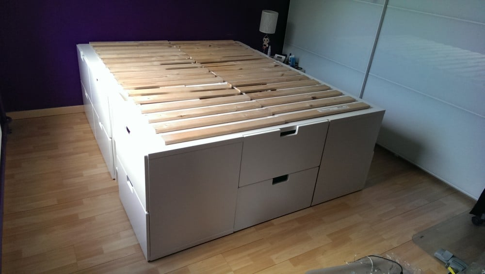 A captain bed with extra storage place - IKEA Hackers ...