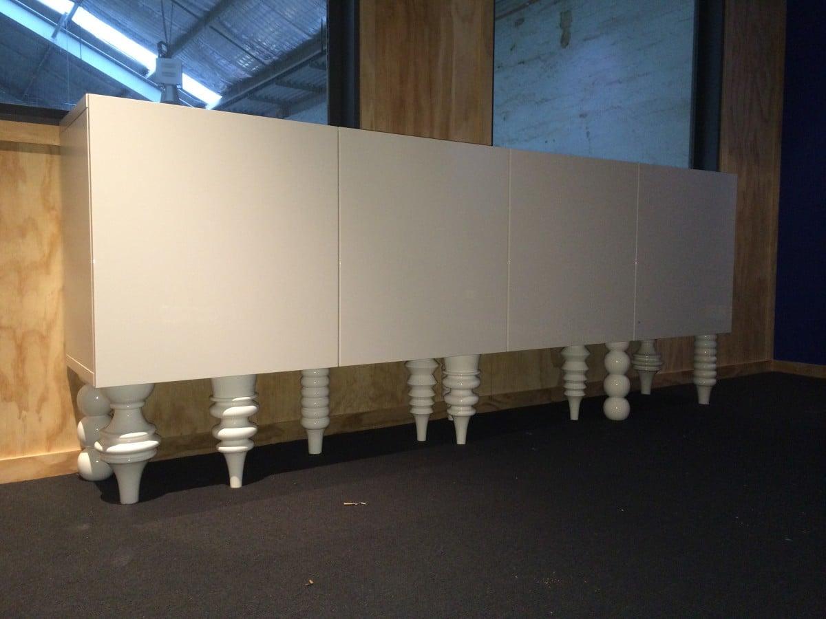 besta wall cabinets mod to sideboard ikea hackers ikea hackers. Black Bedroom Furniture Sets. Home Design Ideas