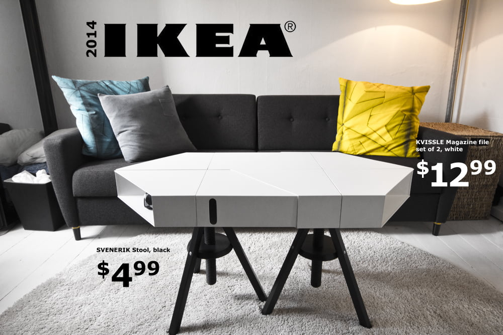The KVISSLE Adjustable Coffee Table: Donu0027t You Wish IKEA Really Made This?