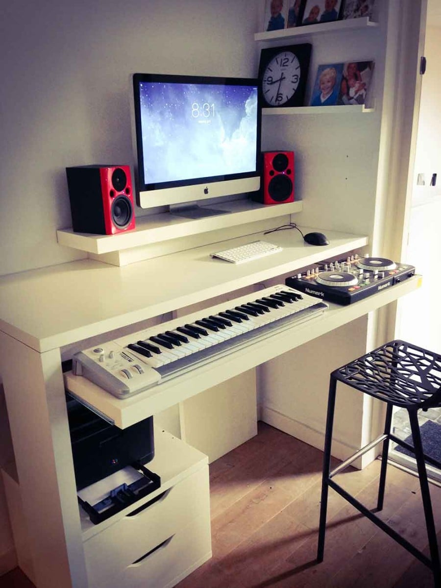 standing work desk and dj booth ikea hackers ikea hackers. Black Bedroom Furniture Sets. Home Design Ideas