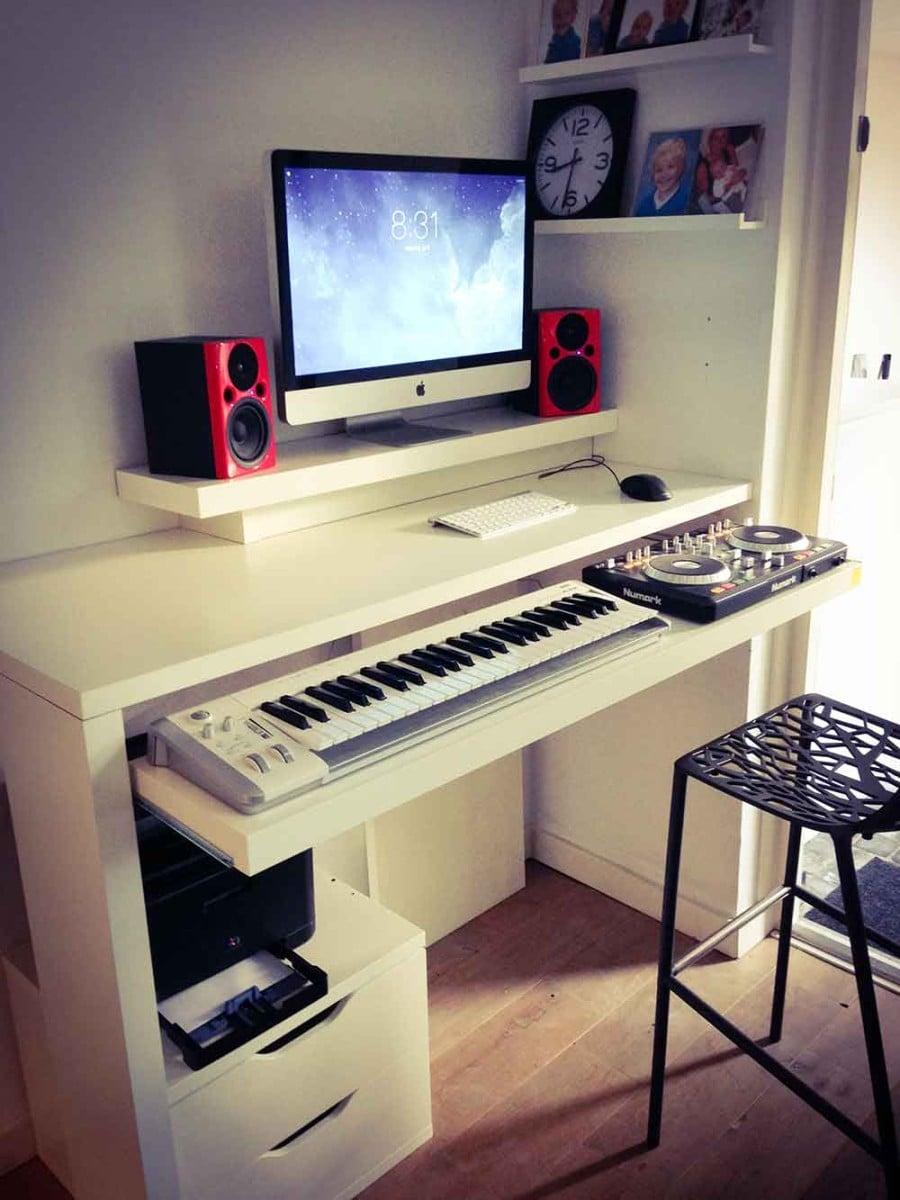standing work desk and dj booth ikea hackers ikea hackers. Black Bedroom Furniture Sets. Home Design Ideas