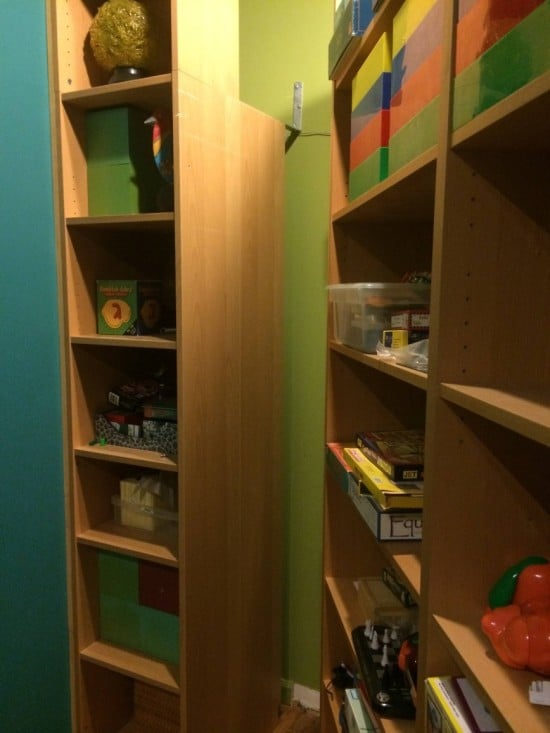 BILLY Bookcases transform into Queen Murphy Bed
