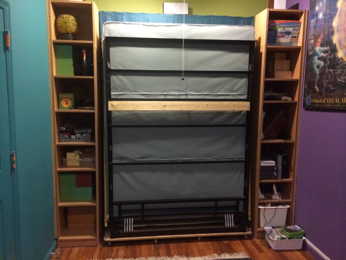Billy bookcases transform into murphy bed ikea hackers - Lit escamotable mural ikea ...