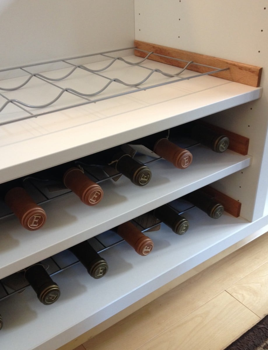 Besta wine rack hack ikea hackers ikea hackers for Wine shelves ikea