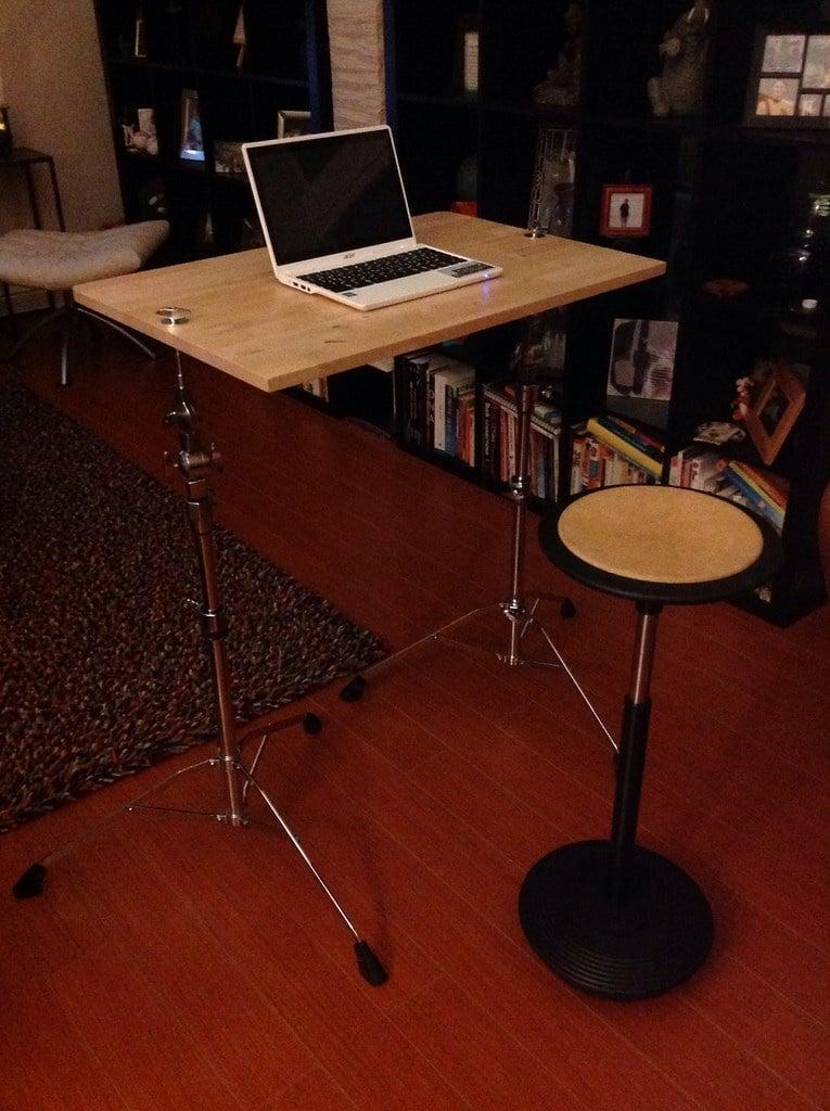 Ikea norbo yamaha cymbal standing desk ikea hackers for Table yamaha