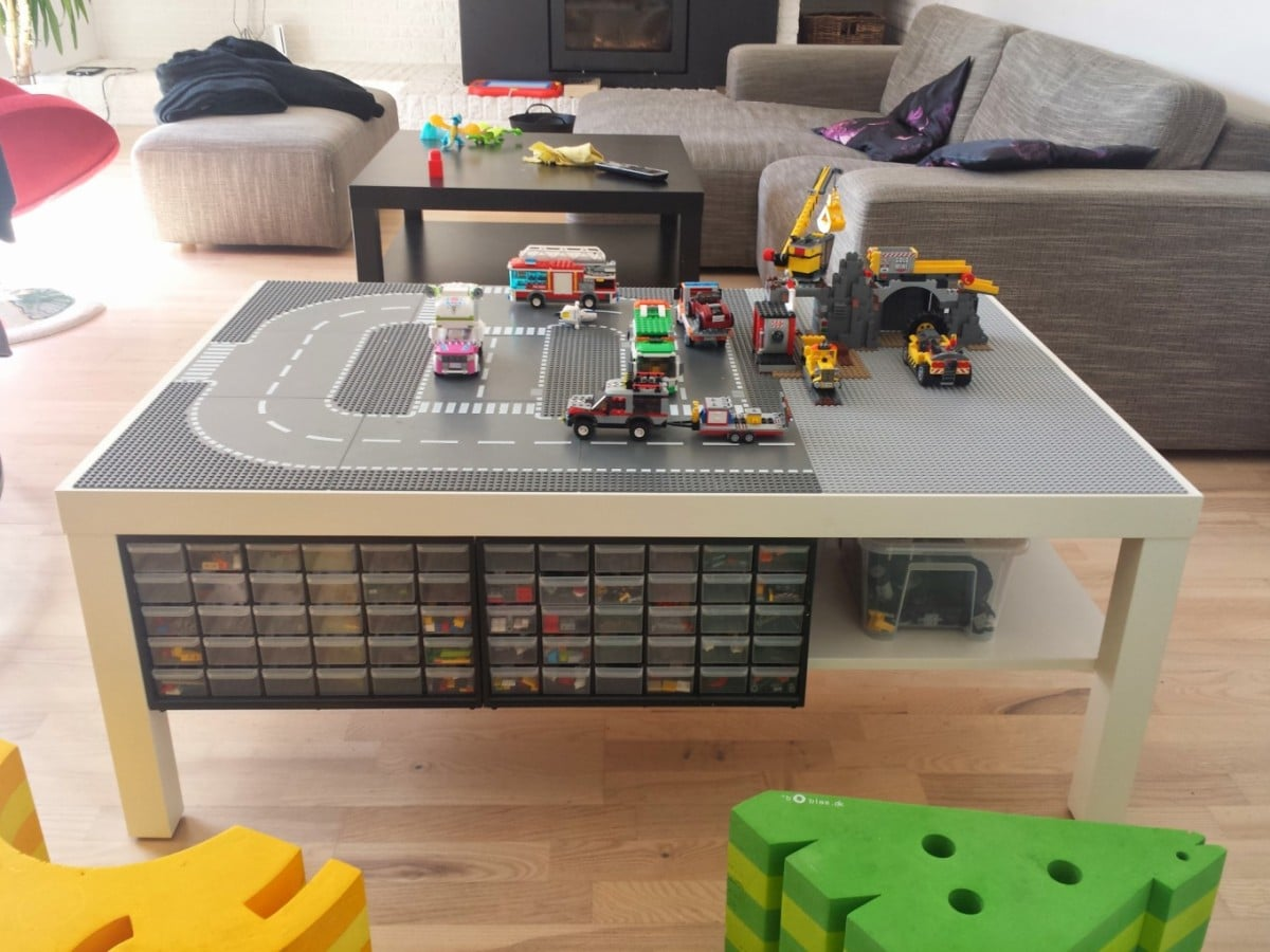 lack lego playtable with undertable storage ikea hackers ikea hackers. Black Bedroom Furniture Sets. Home Design Ideas